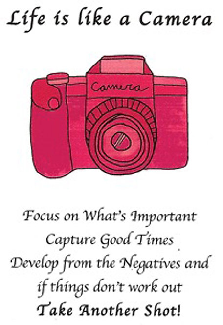 Greeting Card - Life is Like a Camera