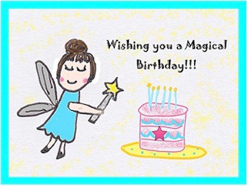 Birthday Card - Wishing You a Magical Birthday