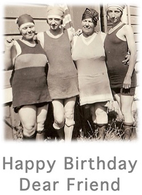 Birthday Card - Swimsuits Happy Birthday