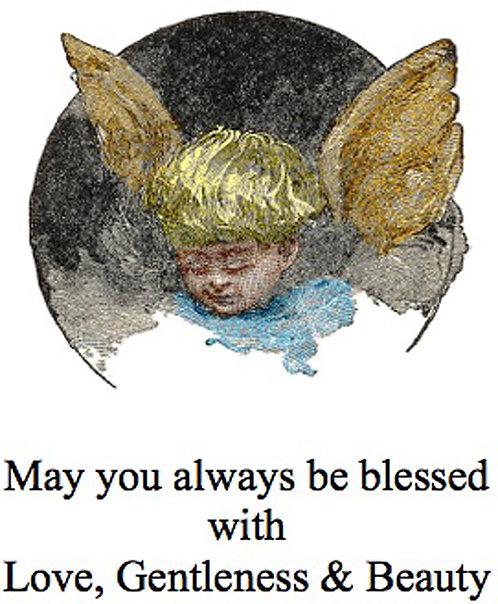Greeting Card - Cherub Blessing