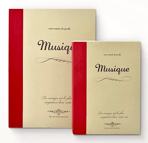 Musique Time Concept Rough Music Notebook 144 Sheets