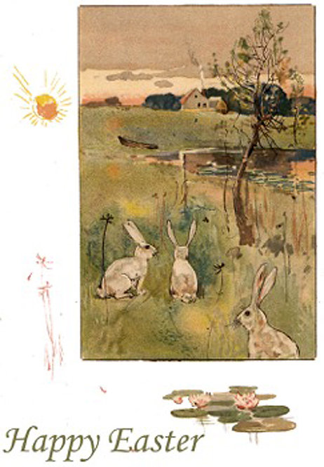 Easter Greeting Card - Easter Bunnies