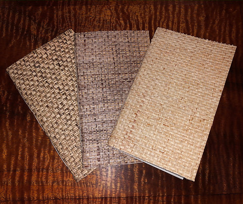 Pkg of 3 Handmade Pocket Purse Sketch Notebooks Vintage  Grass Wallpaper 3x5
