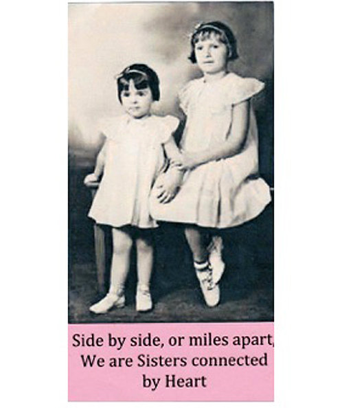 Greeting Card - Side-by-Side Sisters