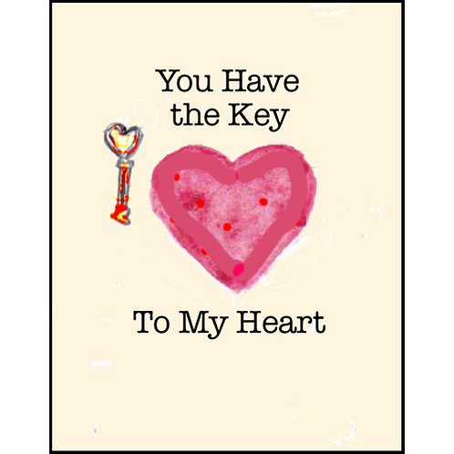 Valentine/Greeting Card - Key to My Heart