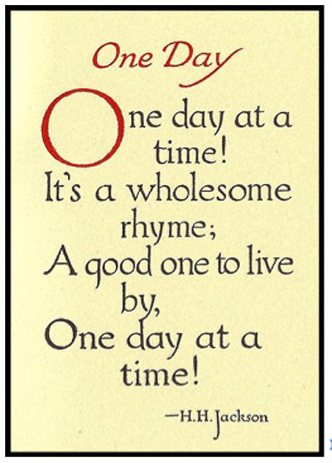 Greeting Card - One Day at a Time