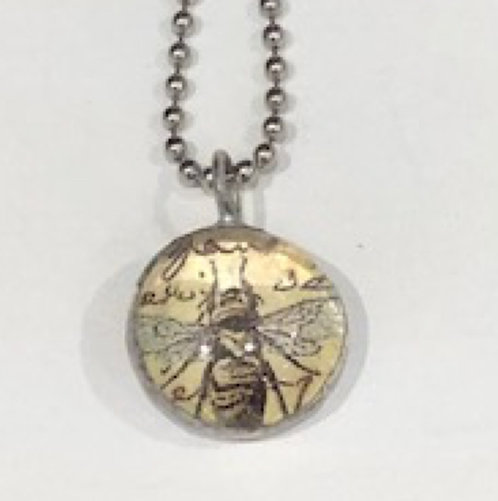 Bee Soldered Pendant with Ball chain