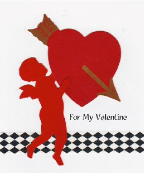 Valentine Greeting Card - Cupid For My Valentine