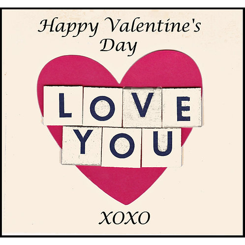 Valentine Card - Love You Letters