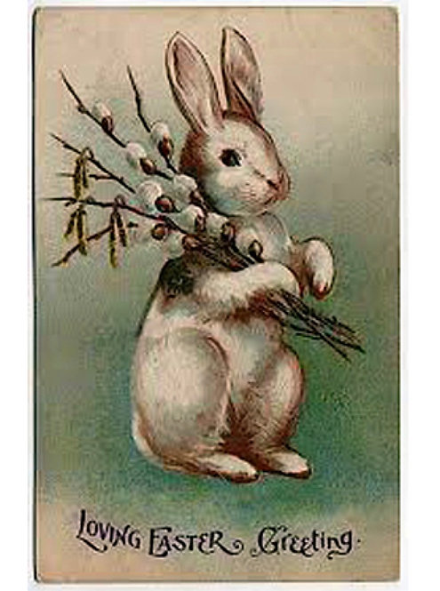 Easter Greeting Card - Loving Easter Greeting Bunny