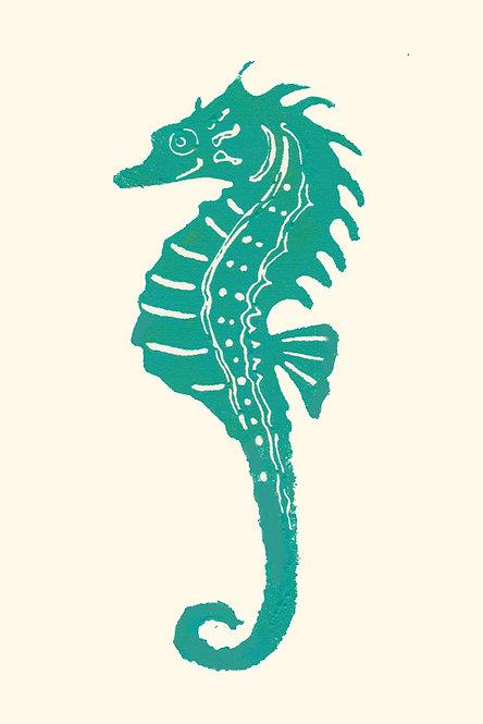 Greeting Card - Seahorse