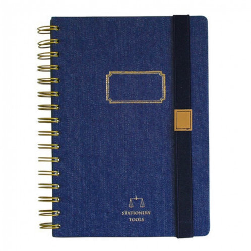 Time Concept Tools Denim Notebooks Navy 60 Sheets