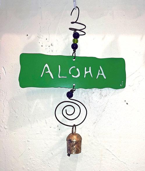 ALOHA Affirmation Hanging Wind Chime by Jendala