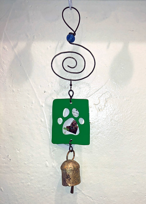 Doggie Paw Ornament Hanging Wind Chime by Jendala