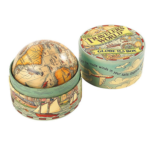 Traveler's World Globe in a Box from Authentic Models – MS021