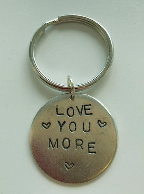 Love You More Key Ring