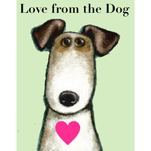 Love From The Dog - Card