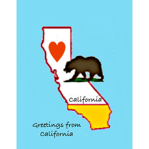 """Travel Card -- """"Greetings from California"""""""
