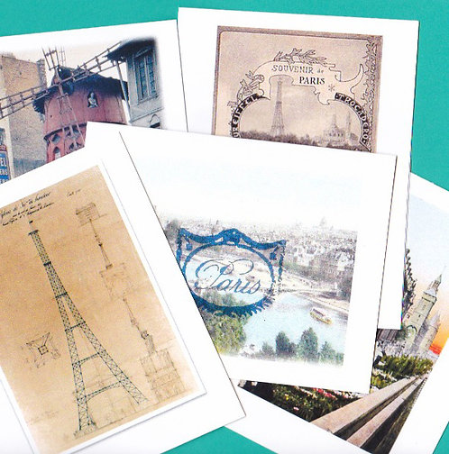 Boxed Set of 5 Note Cards of Old Paris France Sights