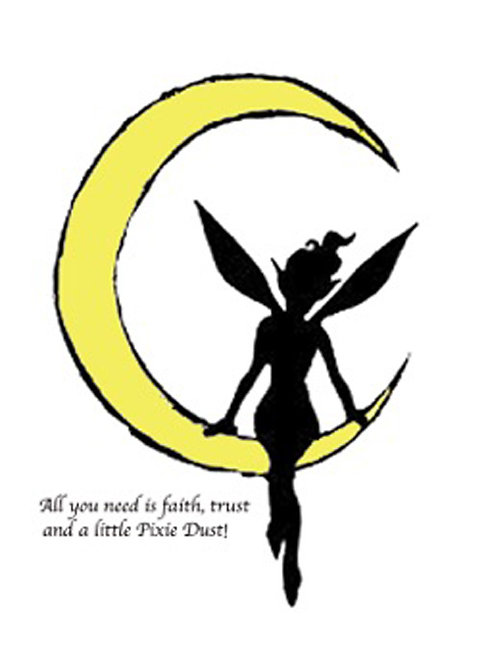 Greeting Card - Fairy on the Moon