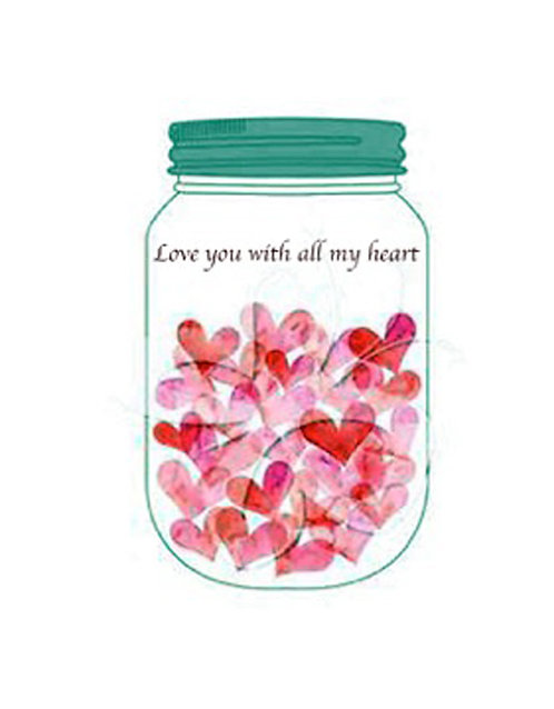 Valentine/Greeting Card - Love You with All My Heart