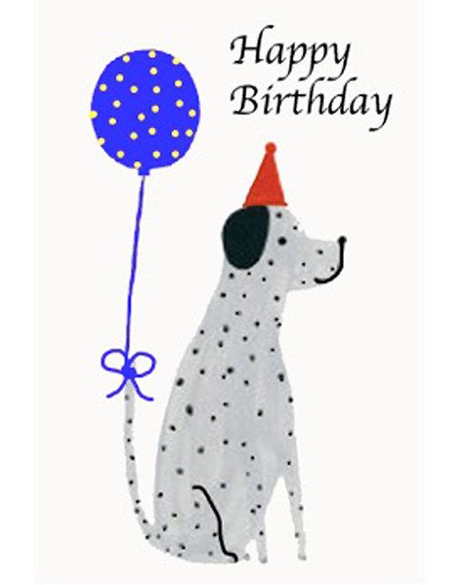 Birthday Card - Happy Birthday Dalmation Dog