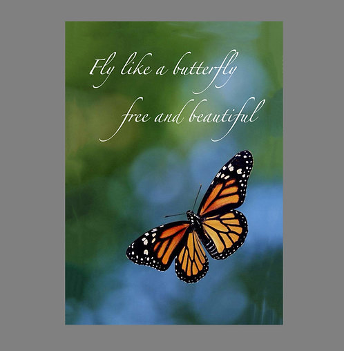 Greeting Note Card - Fly Like a Butterfly