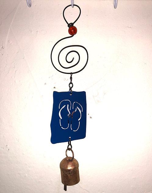 Flip-Flops Wind Chime Hanging Ornament by Jendala
