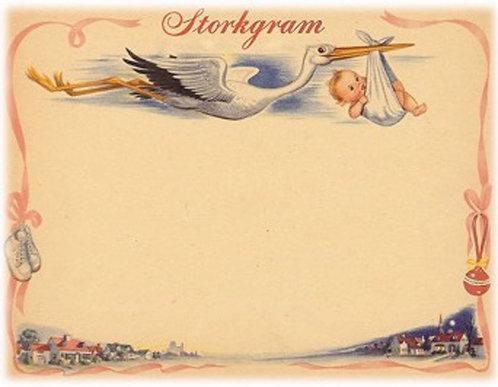 Greeting Card - Storkgram Girl