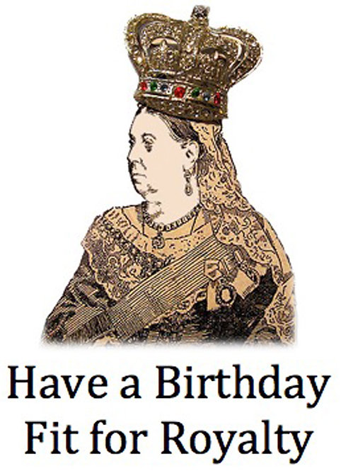 Birthday Card - Queen Victoria