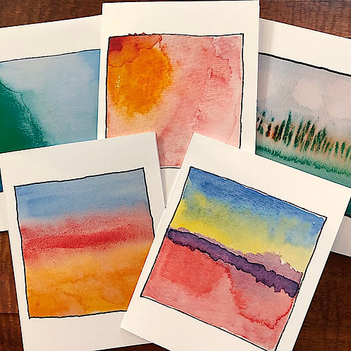 Artistic Colors Note Cards Greeting Cards Boxed Set of 5