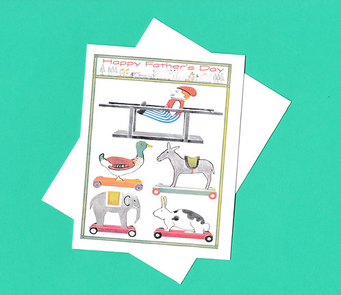 Father's Day Greeting Card - Father's Toys