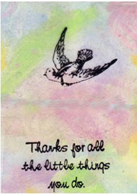 Thank You Card - Thanks for all the little things you do