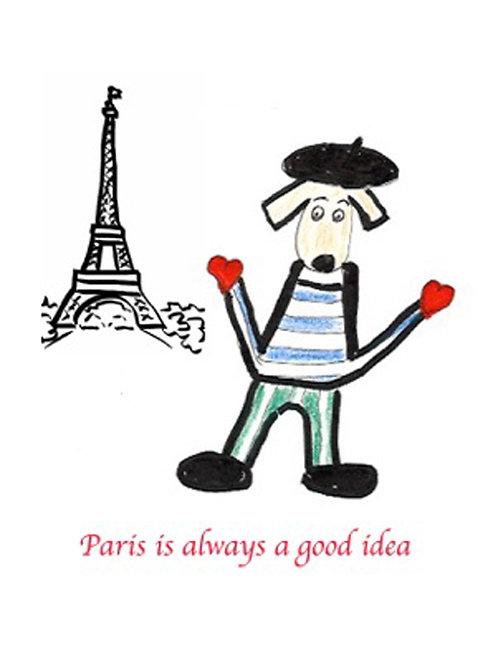 Greeting Card - Paris is Always