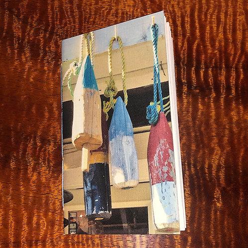 Handmade Pocket or Purse Sketch Notebook Beach House Buoys Covers 3x5