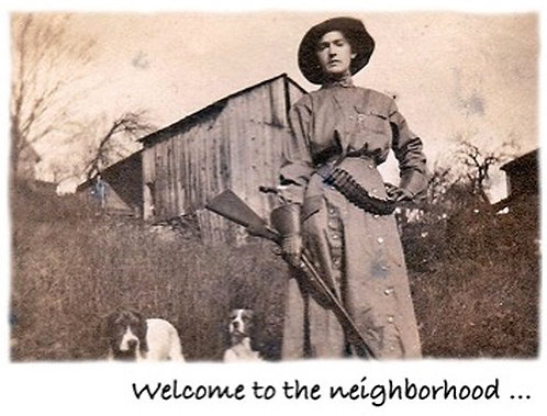 Greeting Card - Rifle Woman