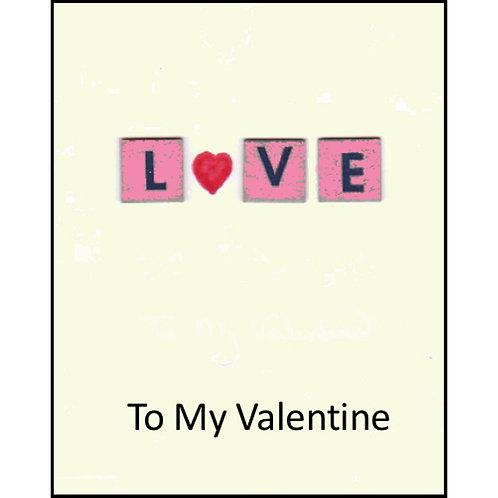Valentine Card - To My Valentine