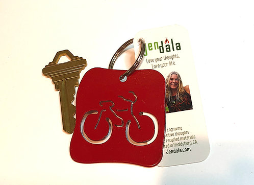 Bicycle Bike Keychain Key Ring with Ornament by Jendala