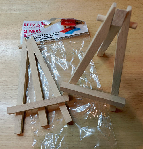 Miniature Mini Wood Art Easel Package of Two