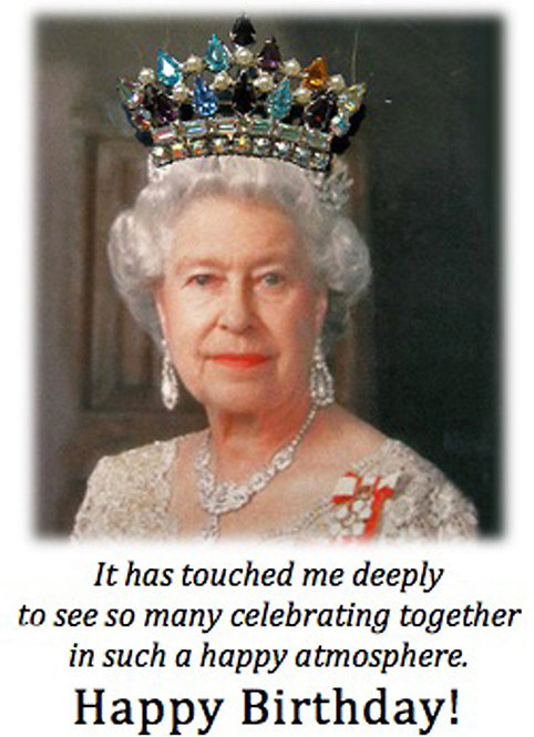 Birthday Card - Queen Elizabeth II