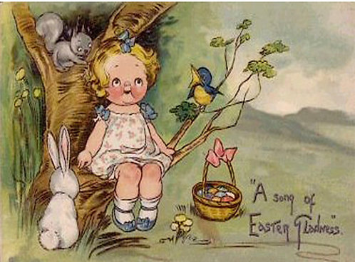Easter Greeting Card - A Song of Easter Gladness