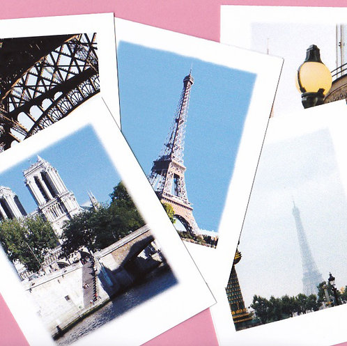 Boxed Set of 5 Note Cards of Paris Monuments