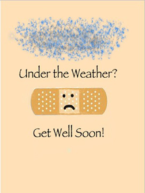 Get Well Card - Under the Weather?