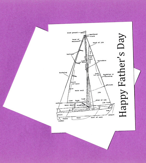 Father's Day Greeting Card - Sailboat
