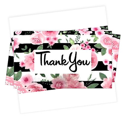Floral Thank You Note Cards Greeting Cards Boxed set of 5