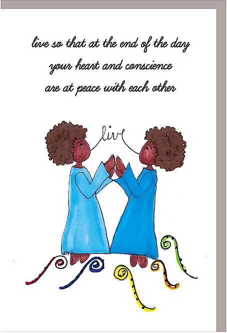 Greeting Card for Friends - Live Peace