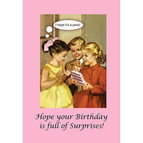 Birthday Card - Birthday Surprise