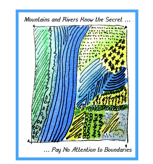 Inspirational Greeting Note Card -Pay No Attention to Boundaries