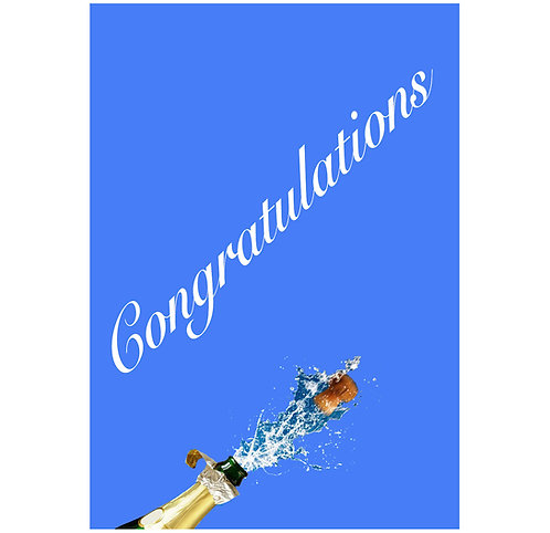 Greeting Note Art Card - Champagne Congratulations