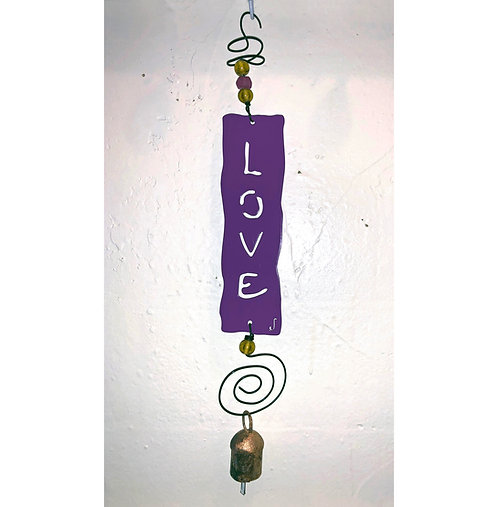 LOVE Affirmation Hanging Wind Chime by Jendala